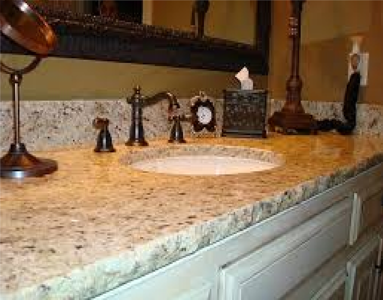 look at the pictures below for ideas of some bathroom countertops and sinks - Bathroom Countertop Ideas